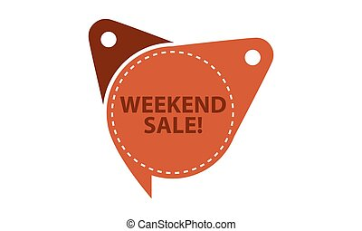 Weekend Sale Tag Template Isolated