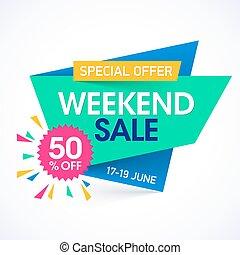 Weekend super sale special offer banner