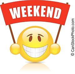 Weekend vector banner