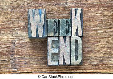 weekend wood word