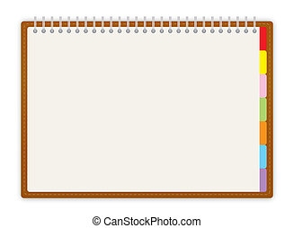 Weekly business project planner book on white background