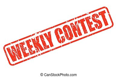 Weekly contest red stamp text