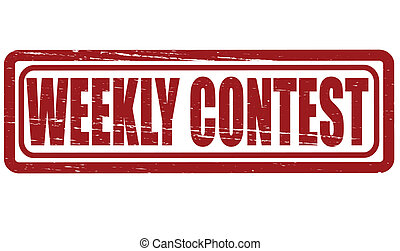 Weekly contest - Stamp with text weekly contest inside,...