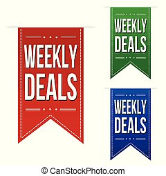 Weekly deals banner design set