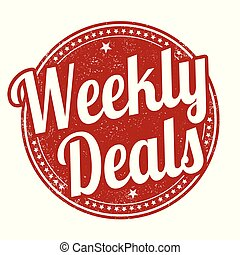 Weekly deals sign or stamp