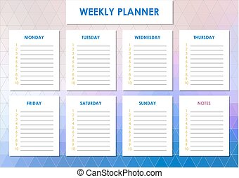 Weekly planner design - Weekly planner for students, school...