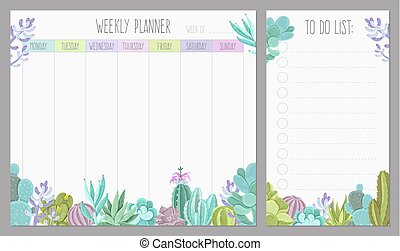 Weekly Planner Design - Weekly planner page realistic ...