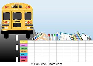 Weekly schedule for school