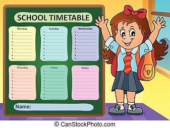 Weekly school timetable design 7 - eps10 vector...