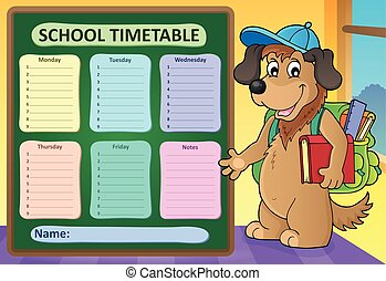 Weekly school timetable design 8 - eps10 vector...