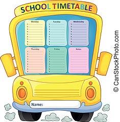 Weekly school timetable