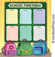 Weekly school timetable .