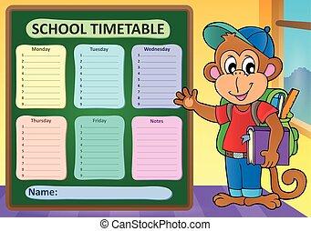 Weekly school timetable subject 9 - eps10 vector...
