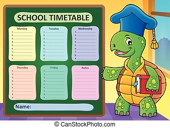 Weekly school timetable template 1 - eps10 vector...