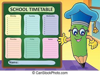 Weekly school timetable template 2 - eps10 vector...