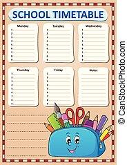 Weekly school timetable template 3