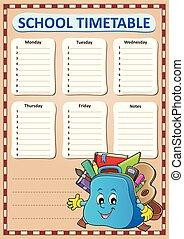 Weekly school timetable template 4