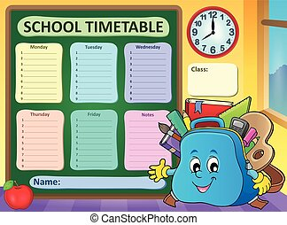 Weekly school timetable template 5 - eps10 vector...