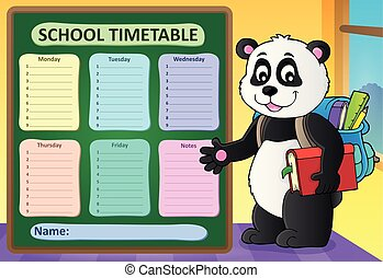 Weekly school timetable template 6 - eps10 vector...