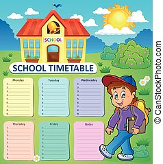Weekly school timetable topic 2
