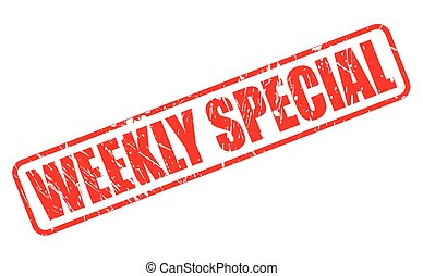 WEEKLY SPECIAL RED STAMP TEXT