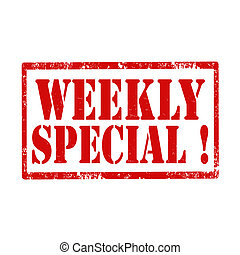 Weekly Special!-stamp - Grunge rubber stamp with text Weekly...