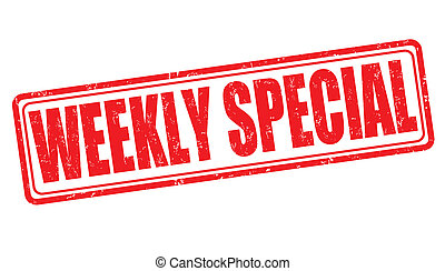 Weekly special stamp - Weekly special grunge rubber stamp on...