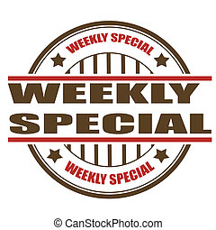 weekly special stamp - weekly special grunge stamp with on...