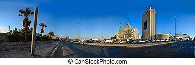 weg, op, commercieel, centrum, van, jeddah