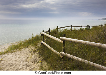 Weg zum Strand - Way to beach - Strand, Dünen, Südschweden,...
