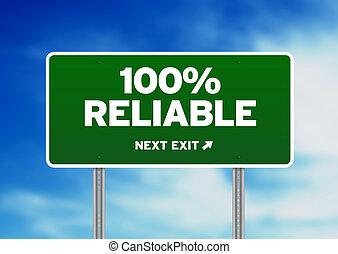 wegaanduiding, betrouwbaar, 100%