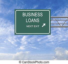 wegaanduiding, om te, zakelijk, lening