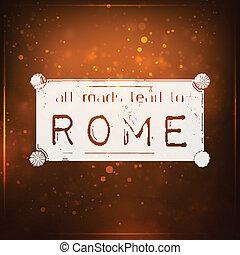 wegen, alles, rome, lood