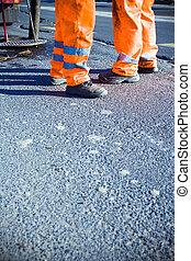 wegenbouw, en, werkmannen