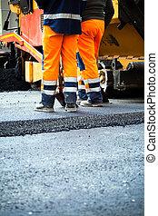 wegenbouw, teamwork