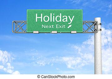 wegteken, -, vakantie