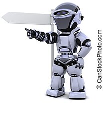wegweiser, roboter