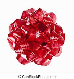 weiß rot, weihnachtsgeschenk, schleife