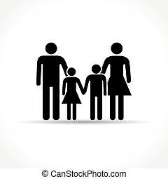 weiße familie, hintergrund, ikone