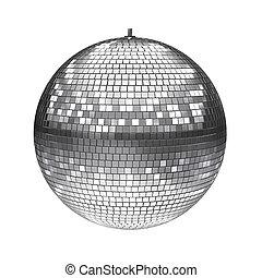 weiße kugel, freigestellt, disko