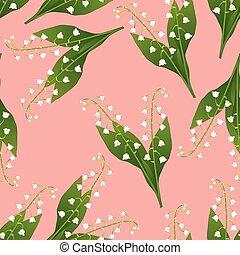 weiße lilie, von, der, tal, auf, rosafarbener hintergrund