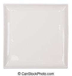 weiße platte