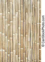 weißer hintergrund, zaun, bambus