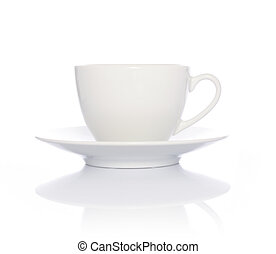 weißer kaffee, becher, weiß, hintergrund
