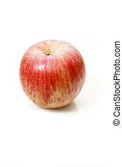 weißes, äpfel, hintergrund, freigestellt