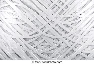 weißes, 3d, abstrakt, hintergrund