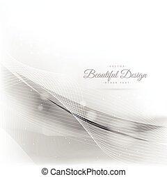 weißes, abstrakt, hintergrund, wellen