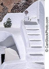 weißes, architektur, details, von, santorini insel, griechenland