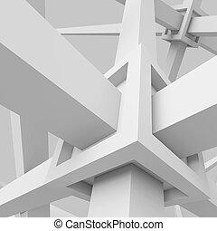 weißes, architektur, hintergrund