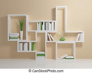 Weisses Bücherregal bücherregal weißes blaues gegen wall buecher clipart